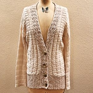 Free People Cream/Oatmeal Grandpa Cardigan Sweater